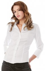 B & C Girls Milano 3/4 Sleeve Stretch Blouse