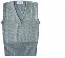 Girls Wool/Lycra V-Neck Sleeveless Tank Top