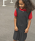 Banner Pleated Pinafore