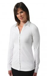 Russell Collection Girls Long Sleeve Stretch Blouse